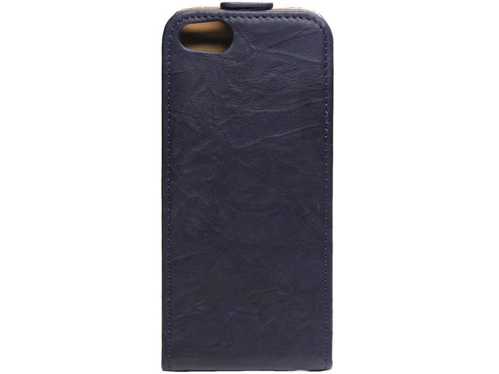 Vintage Flipcase Tasche Apple iPhone 5 navy