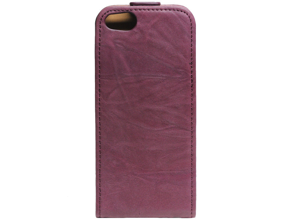 Flipcase Vintage Tasche Apple iPhone 5 rubin