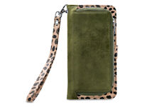 Mobilize 2in1 Gelly Wallet Zipper Case Apple iPhone 6 6S 7 8 Plus Olive Leopard