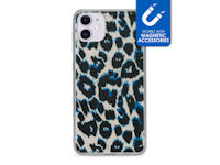 My Style Magneta Case for Apple iPhone 11 Blue Leopard