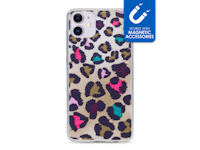 My Style Magneta Case for Apple iPhone 11 Colorful Leopard