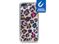 My Style Magneta Case for Apple iPhone 6/6S/7/8 Plus Colorful Leopard