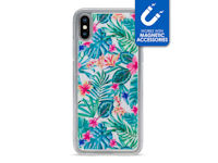 My Style Magneta Case for Apple iPhone X/Xs White Jungle