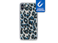 My Style Magneta Case for Apple iPhone Xs Max Blue Leopard