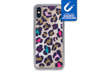 My Style Magneta Case for Apple iPhone Xs Max Colorful Leopard