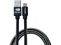 Senza Premium Leather Charge Sync Cable USB Typ C 1.5m schwarz