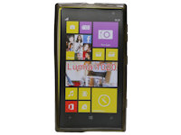 Silicon Case transparent Nokia Lumia 1020 schwarz