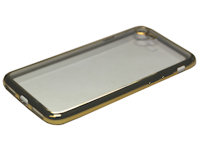 Slim Clear TPU Case iPhone 7 / 8  mit goldenem Rand
