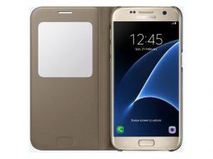 Book Case mit View Cover für Samsung Galaxy S7