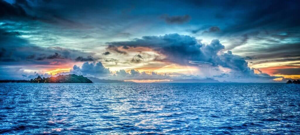 urlaub mit Sonnenuntergang - perfekte handybilder