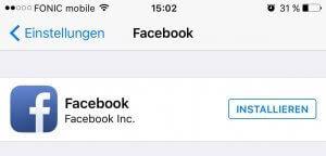 Facebook deinstallieren
