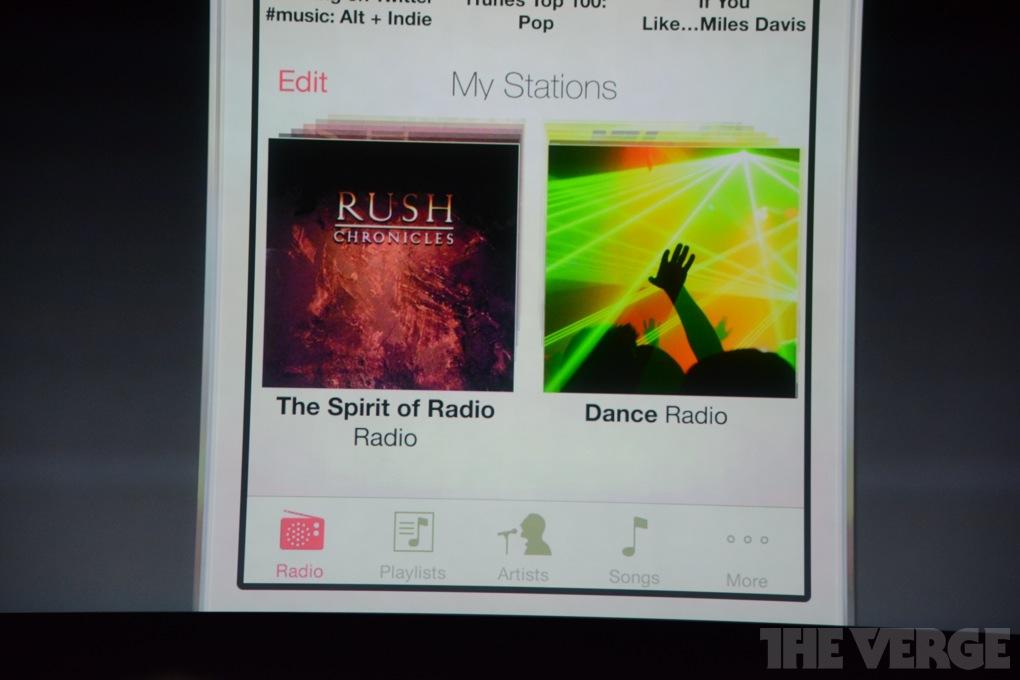 iTunes Radio / Quelle: theverge.com